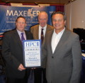 Glenn Rosenberg, VP of Operations and Mike Flynn, Chairman, of Maxeler Technologies accepting the Editors Choice award for Best use of HPC in financial services from Tom Tabor