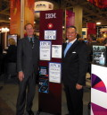 Pictured - Herb Schultz, IBM Deep Computing accepting award on behalf of IBM Watson and WellPoint from Tom Tabor